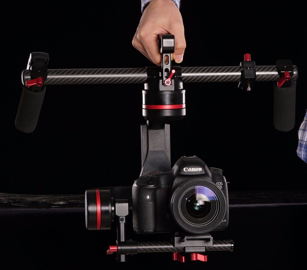 Ready to use Handheld Stabilizer 3-Axis Brushless Gimbal gyroscope for DSLR Camera 5D3+2740 X20 5D2/GH4/A7S with slip ring цена