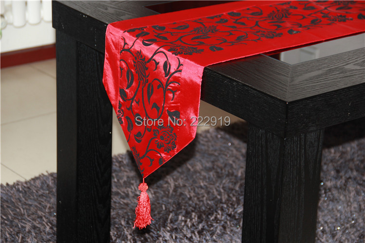 Aliexpress.com : Buy Free Shipping 03glass Table Runner Orange Black Damask  Table Cloth/coffee Table Runner/Foot Massage Bed Runner Free Shipping From  ...