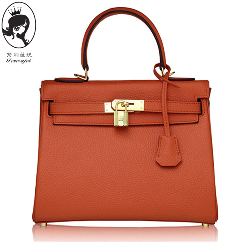 channels font b handbags b font 2016 Genuine Leather Business lock Shoulder h bag Tote bags