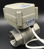 Metal Gear CE Approved TF25 S2 C Automatic Ball Valve DN25 Full Bore SS304 NPT/BSP 1'' DC5V 2/3/5/7 Wires Fast Open/Close