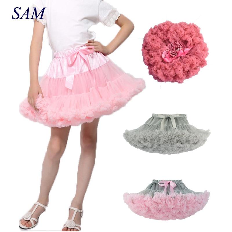 Baby Girls Tutu Skirt Fluffy Children Ballet Kids Pettiskirt Baby Girl Skirts Princess Tulle Party Dance Skirts For Girls