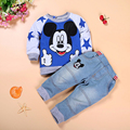 Boy Clothing Sets Autumn Children's Clothing Mickey Boy Tracksuits Set 2PCS Long Sleeve Sweatshirts Jeans Boy Clothes Suits