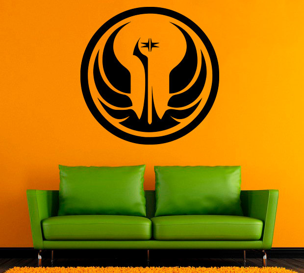 Star Wars Symbol Wall Decal Logo Vinyl Stickers Home Interior Design  Nursery Art Office Murals Bedroom Decor In Wall Stickers From Home U0026 Garden  On ...