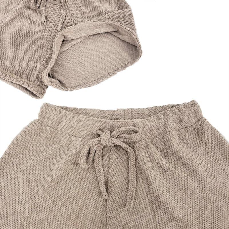 Women 2019 Summer Beach Leisure Shorts Elastic Solid High Waist Loose Lace-up Shorts