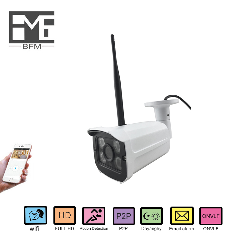 bilder für BFM WIFI hd wireless audio familie im freien sicherheit 720 P 1,0 wasserdichte nachtsicht netzwerk überwachungskamera ONVIF P2P IP KAMERA