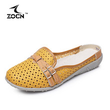 ZOCN New Arrive Loafers Women Shoes Woman Flats Casual Shoes Four Seasons Genuine Leather Shoes Fashion Hollow Zapatos Muje