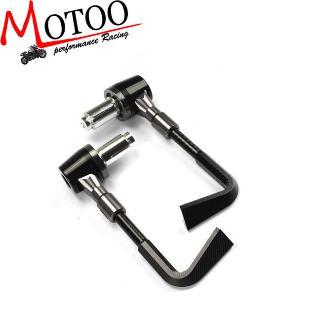 Motoo - Aluminum Protector Handlebar Brush Motorcycle Proguard Brake Clutch Levers Protect Guard Autobicycle Handgrip Guard