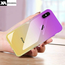 Gradient Colorful Ultra Thin Case For iPhone 7 8 6 6S Plus Soft Transparent TPU Cases 11 Pro XS MAX X XR Cover Coque
