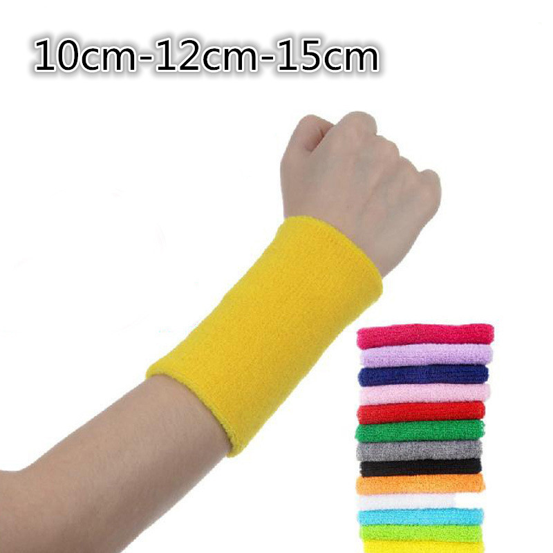 10 12 15 cm support de poignet Pulseira 1 paire bracelet sport Brace Wrap Bandage Gym sangle fitness Tennis Sports Sécurité Poignet Support
