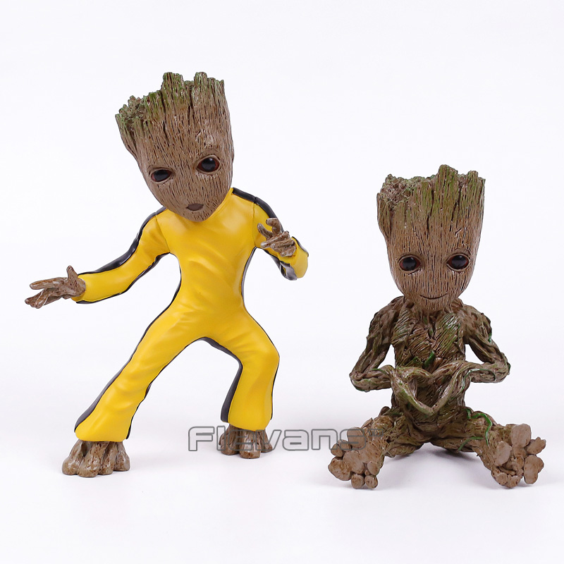 Guardians of the Galaxy 2 Baby Tree Man Cos Star Lord / Bruce Lee Statue Resin Figure Collectible Model Toy 5 Types bruce kawin mind of the novel