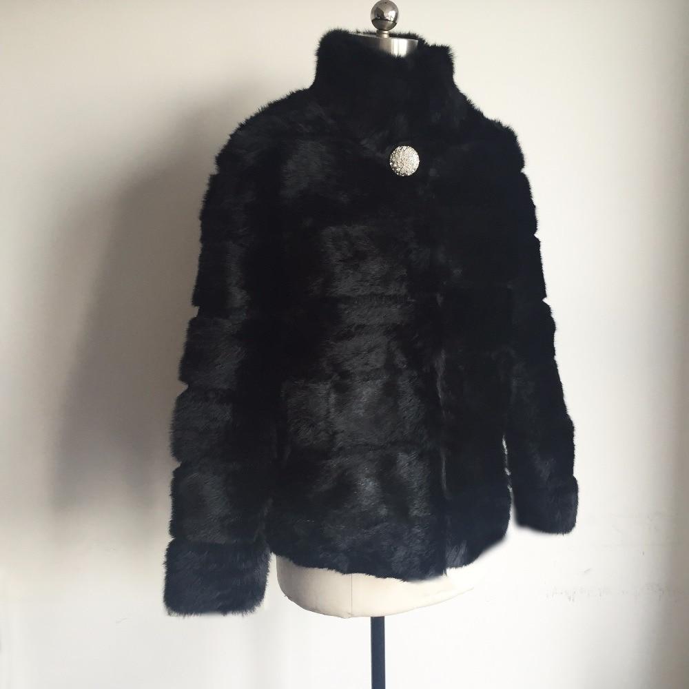Gilet Di Ksr158 Lusso Collare Standard Casual Coniglio Reale Del Pelliccia Striscia 2018 Nuovo Bordare Giacca Vintage Cappotto Della Natural BqxCw1C4T