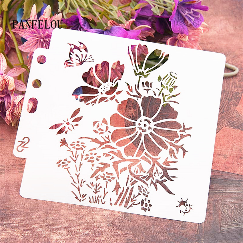 Blossom Of Butterfly Scrapbook Stencils Spray Plastic Mold Shield DIY Cake Hollow Embellishment Printing Lace Ruler Valentine