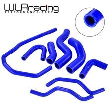 WLR RACING-синий силиконовый радиатор охлаждающей жидкости шланг комплект для VW GOLF GTI MK5 2,0 T 2003-2009, для AUDI MK2, для Seat Leon MK2