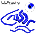 WLR гоночный синий силиконовый радиатор  набор шлангов для охлаждения для VW GOLF GTI MK5 2 0 T 2003-2009  для AUDI MK2  для Seat Leon MK2