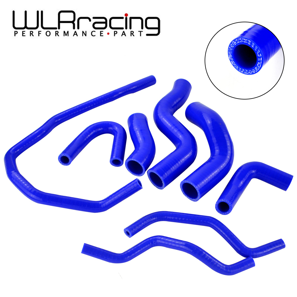 WLR RACING - Blue Silicone Radiator Coolant Hose kit For VW GOLF GTI MK5 2.0T 2003-2009, FOR AUDI MK2 , FOR Seat Leon MK2 silicone radiator coolant hose for vw golf mk6 gti 2 0 turbo tsi ccza 08 15