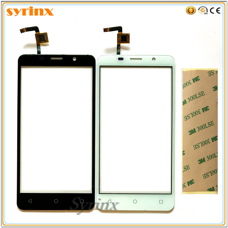 SYRINX Free 3m Tape Touch Screen Digitizer Front Glass Sensor For Tele2 Maxi Replacement Moible Phone Touchscreen Touch Panel