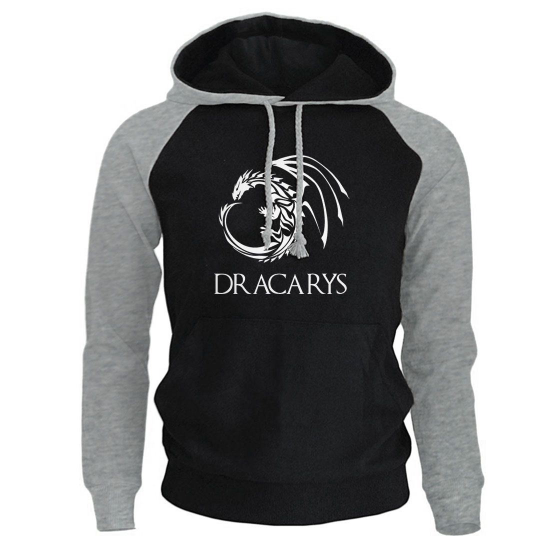 Game Of Thrones Pullover Man Casual Hoodie Harajuku Casual Streetwear Printed Dracarys Dragon Raglan Tracksuit Men Harajuku Top