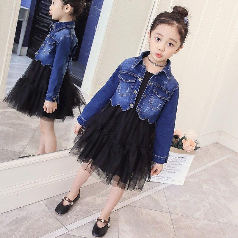 /girl/Spring/2018/new style/dress /girl princess/ children tide girl western style  dress /Long sleeve/ two girl