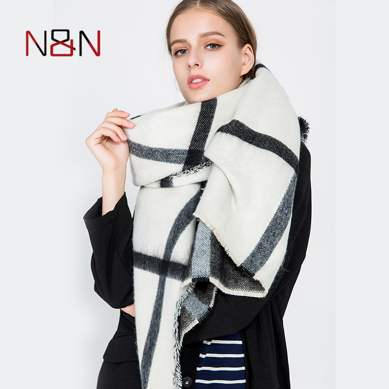 Winter luxury Brand Plaid Cashmere   Scarf   Women Blanket   Scarf     Wrap   Warm Wool   Scarf   Women Pashmina Shawls and   Scarves   NN-CS-038