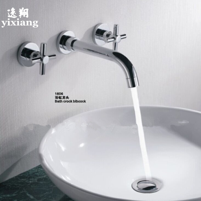 3 Hole Bathroom Faucet wall mount faucets promotion-shop for promotional wall mount
