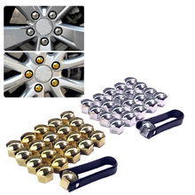 JEAZEA 20Pcs 17mm Hexagon Wheel Lug Bolt Center Nut Covers Caps Clip for Audi A4 Q5 VW Jetta Golf Skoda BMW SEAT 321601173A