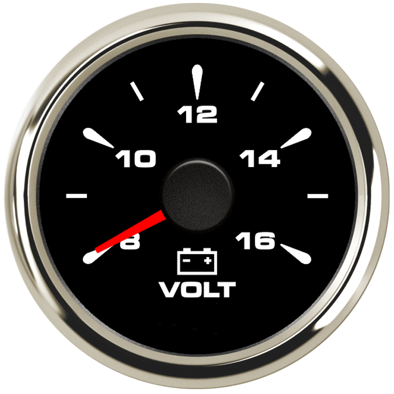 52mm Universal Car Voltmeter Waterproof Voltage Meter Volt Meters 8-16v LCD IP67 for Auto Boat Yacht RV Motorcycle Vehicle