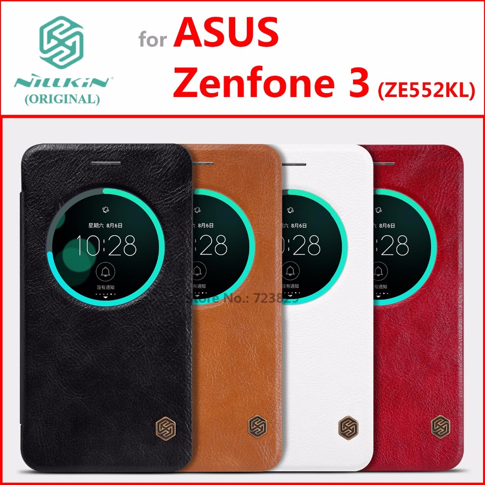 PU Leather Case for asus Zenfone 3 ZE552KL Original NILLKIN Qin Series Classic Flip Cover for asus Zenfone 3 ZE552KL