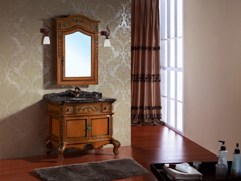 Spiegelkast Badkamer Hout : Wandmontage enkele wastafel badkamer spiegelkast badkamer vanity in
