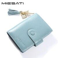 Small Wallet Women Coin Purse Genuine Leather Tassel Pendant Short Money Wallets Lady Female Credit Card
