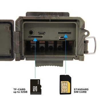 HuntingTrail Camera Cellular Mobile 2G MMS SMTP Photo Trap Night Vision Wireless Wildlife Surveillance Tracking HC300M 4