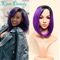 Ombre Wigs perruque synthetic women cosplay Long Straight purple two tone cheap Cosplay Wigs peruca pelucas synthetic wigs