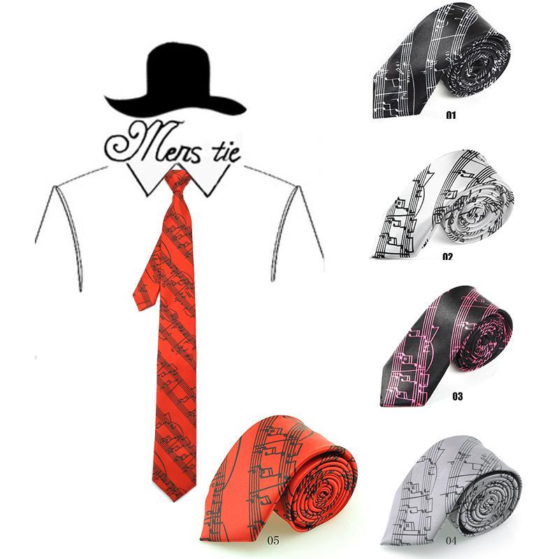 "Neuankömmling 2 Zoll breit Mode 6 Farben ""Sound Spectrumd / Music"" Muster Mix Krawatte Polyester gewebte klassische Herren Party Krawatte"