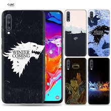 Sacos de Caso para Samsung Galaxy Telefone Móvel A50 A70 A30 A20 J4 J6 J8 A6 A8 M30 A7 Plus 2018 nota 8 9 Game Of Throne Anime Coque J6(China)