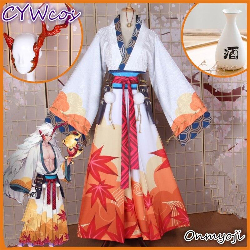 Onmyoji SSR ibaraki-douji Costume de Cosplay nouvelle peau automne feuille d'érable Cosplay uniformes de noël Kimono japonais