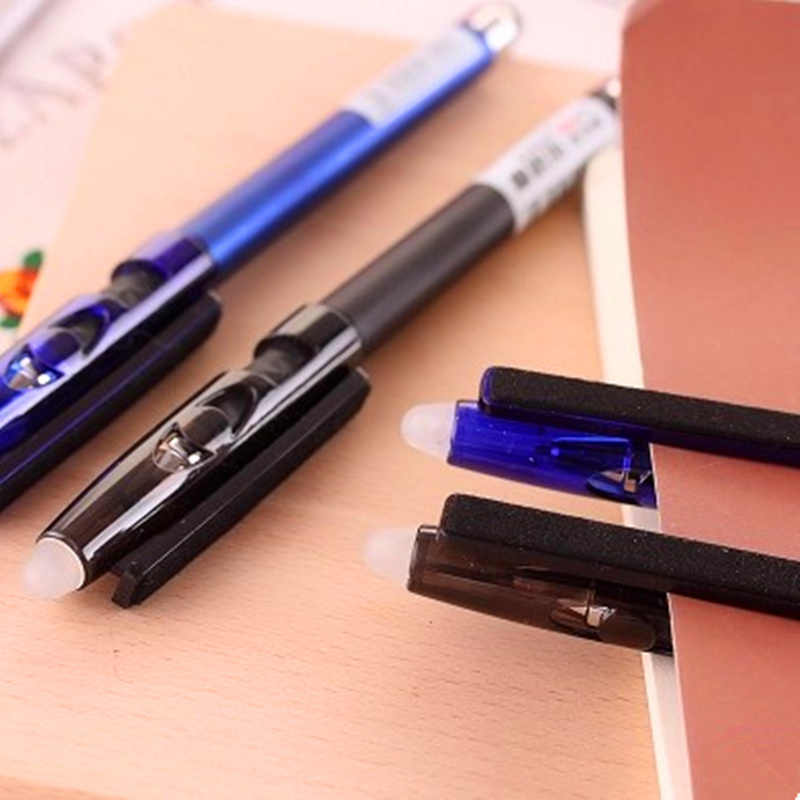 2 ชิ้น/ล็อต Multi-functional ปากกา erasable แรงเสียดทานเจลปากกา 0.5 มม.คริสตัลคริสตัล Touch Screen สีดำหมึกเกาหลีใต้เครื่องเขียน