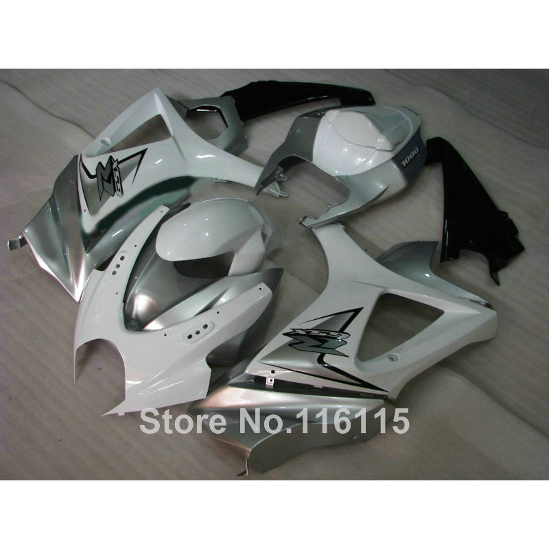 ABS Motorcycle parts for SUZUKI GSXR 1000 K7 K8 07 08 fairing kit GSXR1000 2007 2008 white silver black fairings set JS87 abs plastic fairing kit for suzuki gsxr1000 2007 2008 k7 gsxr 1000 07 08 red black moto fairings set cb34 7 gifts