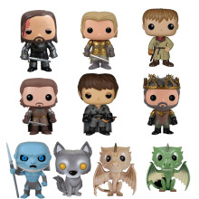 Lensple Game Of Thrones Gray Wind Ice Wolf Drogon Rhaegal Viserion Vinyl Action Figure Collection Model Toys for Children Gift 2019 new movie game of thrones anime figure viserion ice dragon pvc action figures collection model toys doll gift
