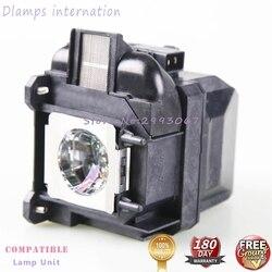 Ampoule de remplacement avec boîtier ELP87 V13H010L87 compatible avec les projecteurs EPSON PowerLite 520, 525 W, 530, 535 W, BrightLink 536Wi
