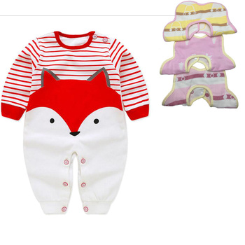 0-12M Newborn Clothes Set baby Rompers +3pcs Bibs Babies sets girls boys kids suits  Good quality Baby Accessories