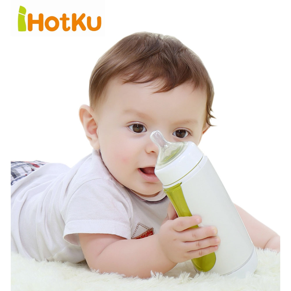 Portable Garrafa Babies Temperature Indication Intelligent Milk Bottle with Nipple Support Data Statistics Baby Mamadeira Feed new multifunction intelligent thermostat baby double bottle warmers sterilizers thermal insulation heating egg milk warmer