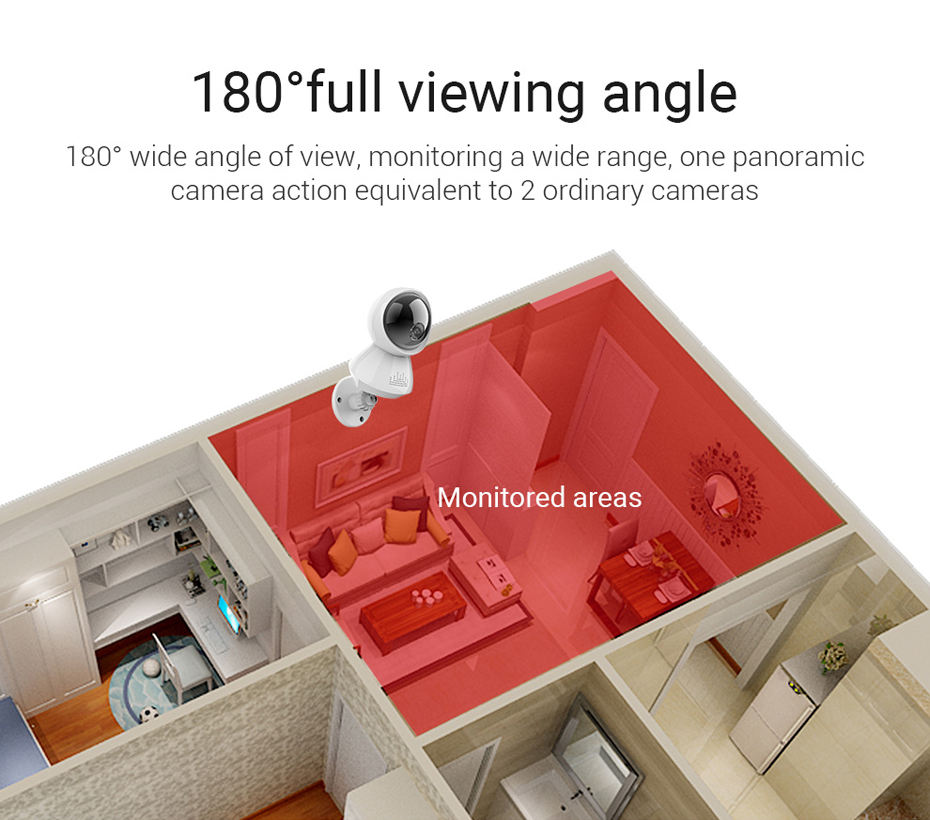 H.VIEW 1080P Panoramic Camera 180 CCTV Camera 720P IP Camera Wifi Camara IP Fisheye Video Surveillance Cameras (5)