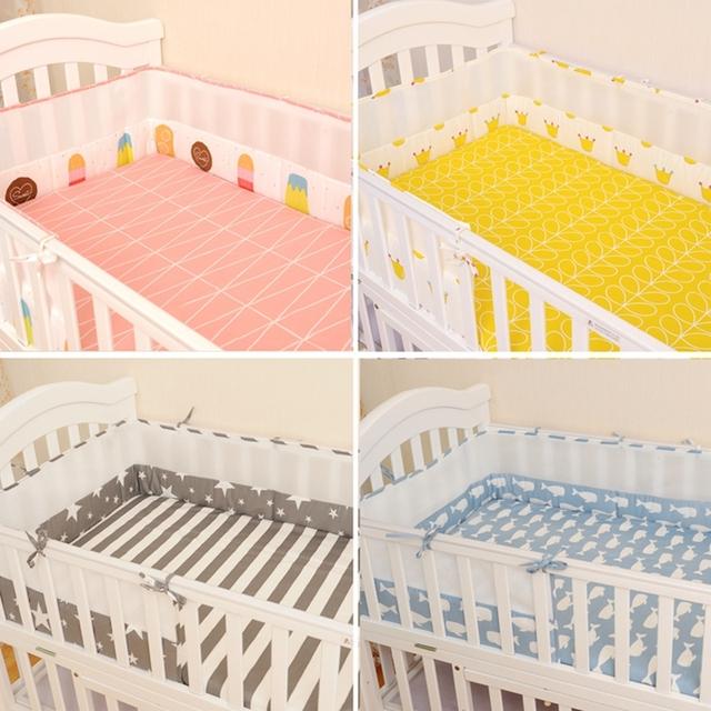 Alta qualidade 100% algodão baby bedding sets 2 pçs/set folha de cama + presépio bumpers protector de berços de quarto infantil ex017