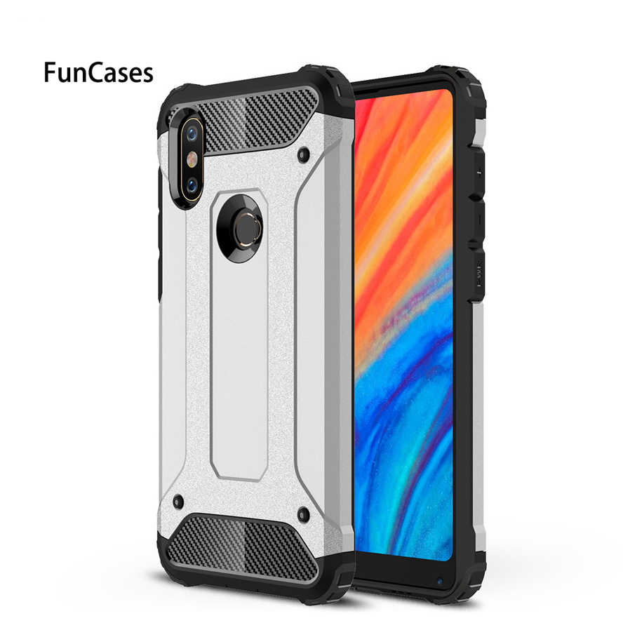 Xiaomi Mi Mix 2S case Silicon soft TPU PC 2in1 hard case shockproof Armor case For Mi Mix 2S cover 5.99 Xiaomi Mix 2S phone case