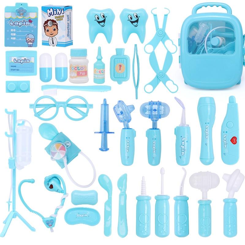 Doctor Play Set Kids Stethoscope Hospital Doctor's Set Toys For Children Girls
