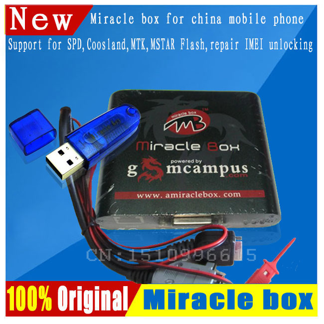 Free ship  Original Miracle box +Miracle key with cables (V2.48  hot update) for china mobile phones Unlock+Repairing unlock