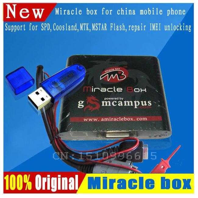 Livraison gratuite boîte Miracle originale + clé Miracle avec câbles (mise à jour chaude V2.48) pour les téléphones mobiles de chine déverrouiller + réparer déverrouiller