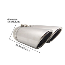 цена на 2pcs For Mercedes Benz C180 Car Exhaust Muffler Tip Stainless Steel Pipe Chrome Modified Car Rear Tail Throat Liner Accessories