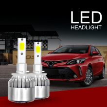 купить C6 Car Headlight H4 H7 LED H1 H3 Headlamp Light H8/H11 HB3/9005 HB4/9006 9012 9007 H13 6000K 72W 8000LM All In One Car дешево