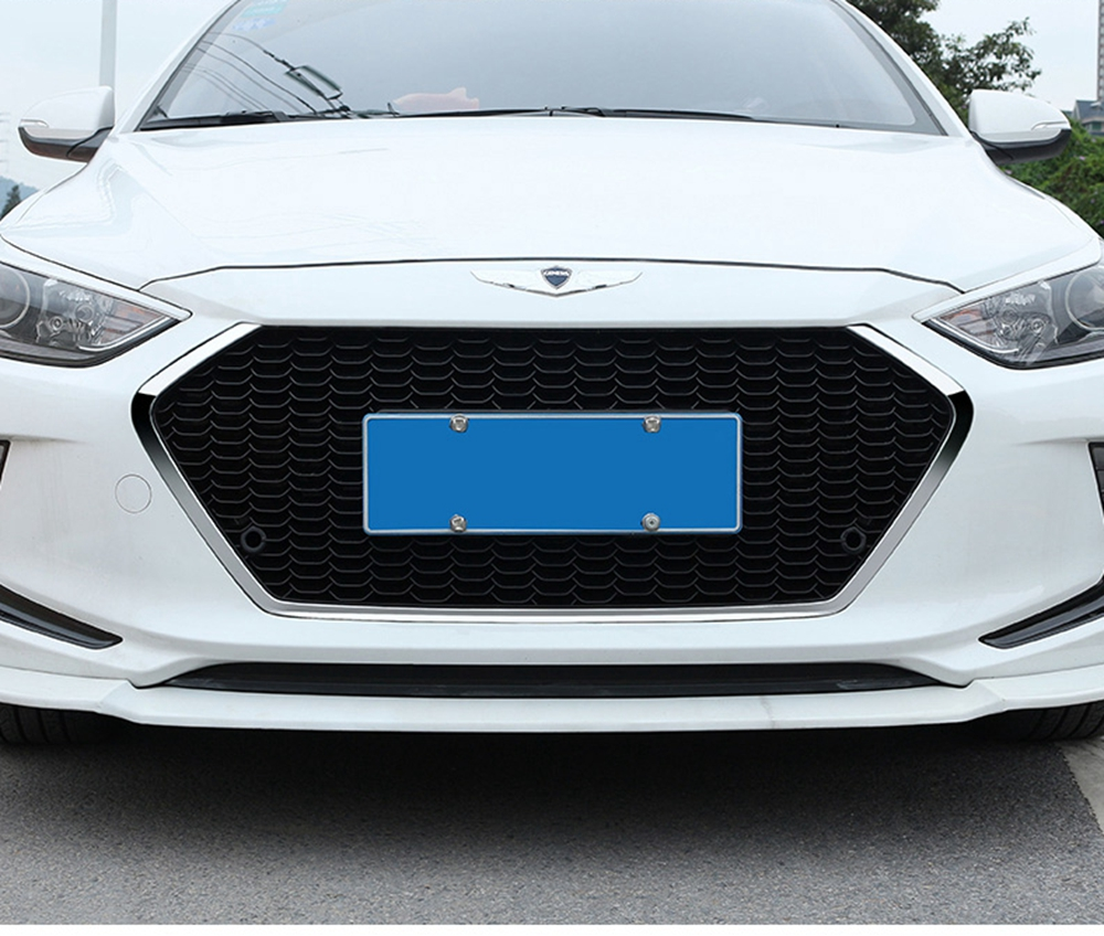 MONTFORD ABS Plastic Front Bumper Front Grille Front Grilles Shiny Front Center Grills 1Pcs Fit For Hyundai Elantra 2017 2018