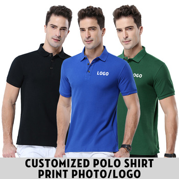 High Quality 12 Colors Men Polo Shirt Women Short Sleeve Polo Shirts Design Custom Own Polos 100% Cotton Plus size S-3XL